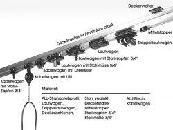 Deckenschiene 3m (4 Stk.) schwarz