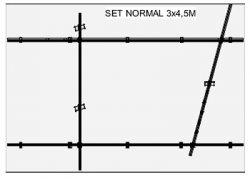 Deckenschienen 3m x 4,5m Set silber